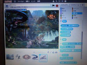 某人気ゲームを題材にした、Scratchのオリジナルゲーム