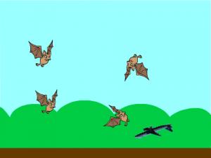 4/1ゲームプログラミング体験作品「コウモリをよける」