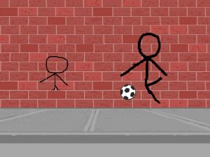 Scratchで書いた棒人間とサッカー
