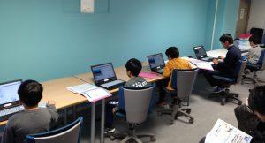 2017年12月9日のプログラミング体験教室の様子