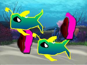 Scratchで作った水族館1