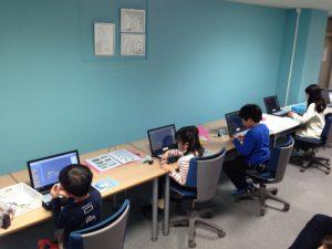 プログラミング体験教室の様子(2/12PM)