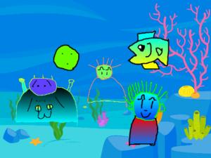 Scratchで作る水族館