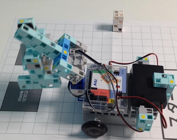 ブロック運びロボット
